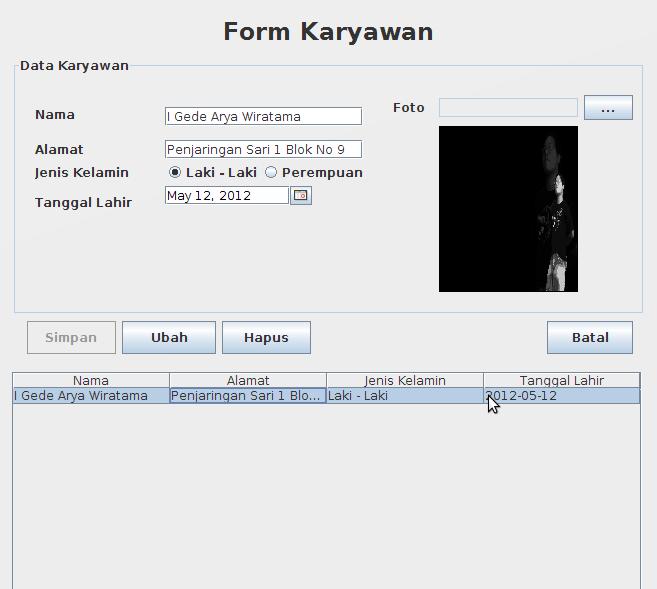 Menyimpan Gambar Ke Dalam Database (Java)